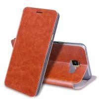 Водоотталкивающий чехол флип подставка на силиконовой основе для Samsung Galaxy A3 (2016)