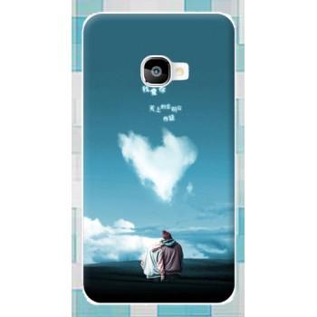 Силиконовый матовый дизайнерский чехол с принтом для Samsung Galaxy A3 (2016)
