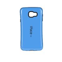 Силиконовый эргономичный непрозрачный чехол с нескользящими гранями для Samsung Galaxy A3 (2016) Синий