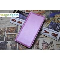 Чехол флип на пластиковой основе с отделением для карты и текстурным покрытием Кожа на пластиковой основе для Samsung Galaxy A3 (2016) Розовый