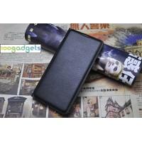 Чехол флип на пластиковой основе с отделением для карты и текстурным покрытием Кожа на пластиковой основе для Samsung Galaxy A3 (2016) Черный
