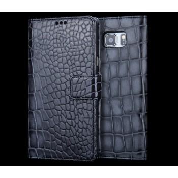 Кожаный чехол портмоне (нат. кожа крокодила) для Samsung Galaxy A3 (2016)