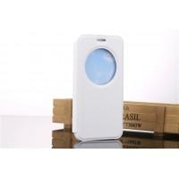 Чехол флип подставка на силиконовой основе с окном вызова для ASUS Zenfone Go Белый