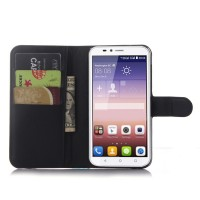 Чехол портмоне подставка с защелкой для Huawei Y625 Черный