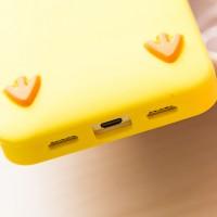 Силиконовый флуоресцентный дизайнерский чехол Цыпа для Huawei Y6 Желтый
