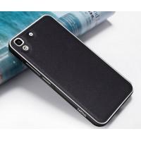 Двухкомпонентный гибридный чехол с металлическим бампером и поликарбонатной крышкой текстура Золото для Huawei Y6 Черный