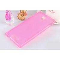 Полупрозрачный силиконовый чехол для ASUS Zenfone 5 (A500KL, A501CG) Розовый