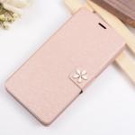 Текстурный чехол флип подставка на пластиковой основе с дизайнерской застежкой для Huawei Y6