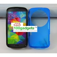 Силиконовый чехол S для Samsung Galaxy K Zoom Голубой