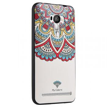 Силиконовый дизайнерский чехол с объемно-рельефным принтом для ASUS Zenfone Selfie