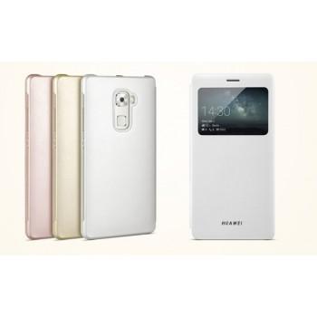 Оригинальный чехол смарт флип подставка на пластиковой основе с окном вызова для Huawei Mate S