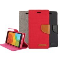 Чехол портмоне подставка с защелкой текстура Ткань для ASUS Zenfone Selfie