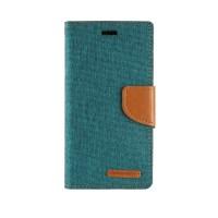 Чехол портмоне подставка с защелкой текстура Ткань для ASUS Zenfone Selfie Зеленый