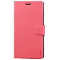 Чехол флип с магнитной защелкой текстура дерева для ASUS Zenfone 6 Розовый