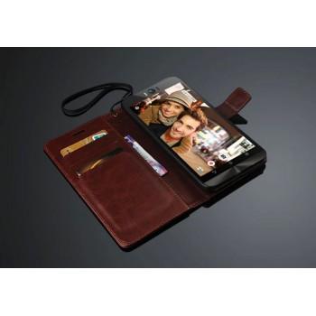 Глянцевый чехол портмоне подставка на пластиковой основе с защелкой для ASUS Zenfone Selfie