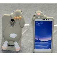 Силиконовый дизайнерский фигурный чехол Кролик для Xiaomi RedMi Note 3