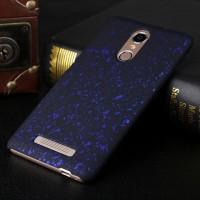 Пластиковый матовый дизайнерский чехол с голографическим принтом Звезды для Xiaomi RedMi Note 3 Синий