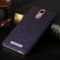Пластиковый матовый дизайнерский чехол с голографическим принтом Звезды для Xiaomi RedMi Note 3 Фиолетовый