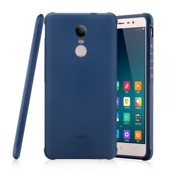 Силиконовый матовый непрозрачный чехол повышенной защиты для Xiaomi RedMi Note 3