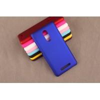 Пластиковый матовый непрозрачный чехол для Xiaomi RedMi Note 3 Синий