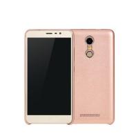 Пластиковый чехол с кожаным покрытием для Xiaomi RedMi Note 3 Розовый