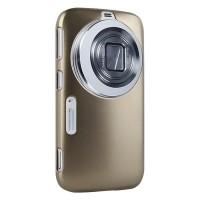Пластиковый чехол серия Metallic Layer для Samsung Galaxy K Zoom Бежевый