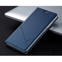 Текстурный чехол флип подставка на пластиковой основе с отделением для карт для Xiaomi RedMi Note 3