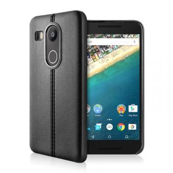 Силиконовый матовый непрозрачный чехол текстура Кожа для Google LG Nexus 5X