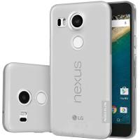 Силиконовый матовый полупрозрачный чехол повышенной защиты для Google LG Nexus 5X Серый