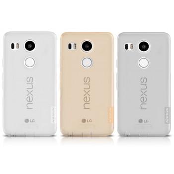 Силиконовый матовый полупрозрачный чехол повышенной защиты для Google LG Nexus 5X