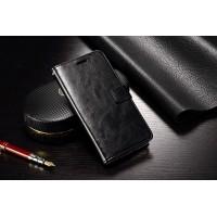 Глянцевый чехол портмоне подставка с защелкой для ZTE Nubia Z9 Max Черный