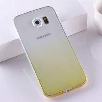 Силиконовый градиентный полупрозрачный чехол для Samsung Galaxy S6 Edge Plus