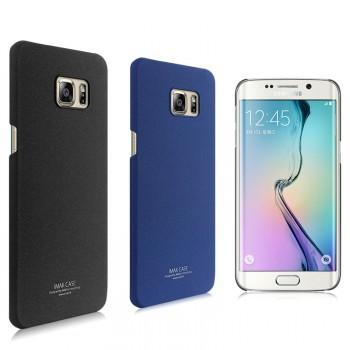 Пластиковый матовый чехол с повышенной шероховатостью для Samsung Galaxy S6 Edge Plus