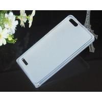 Силиконовый полупрозрачный чехол для Huawei Ascend G6 Белый