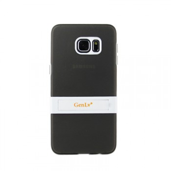 Двухкомпонентный силиконовый чехол с пластиковым бампером-подставкой для Samsung Galaxy S6 Edge Plus