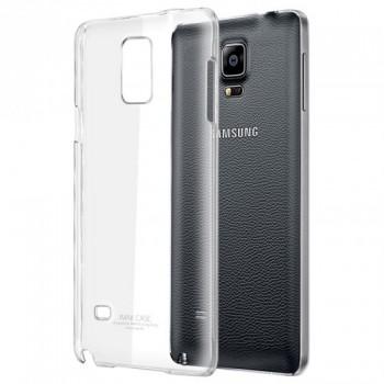 Пластиковый транспарентный олеофобный премиум чехол для Samsung Galaxy Note 4
