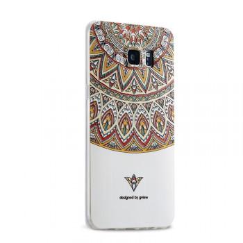 Силиконовый матовый дизайнерский чехол с эксклюзивной серией принтов для Samsung Galaxy S6 Edge Plus