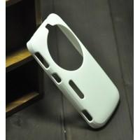 Пластиковый анти-скртеч чехол для Samsung Galaxy K Zoom Белый