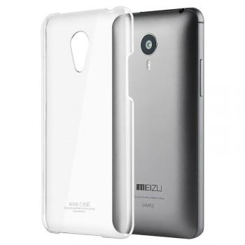 Пластиковый транспарентный олеофобный премиум чехол для Meizu MX4