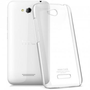 Пластиковый транспарентный олеофобный премиум чехол для HTC Desire 616