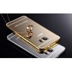 Гибридный металлический двухкомпонентный чехол и поликарбонатной крышкой с зеркальным покрытием для Samsung Galaxy S6 Edge Plus