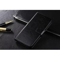 Глянцевый чехол портмоне подставка с защелкой для Samsung Galaxy S6 Edge Plus Черный