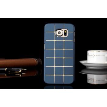 Пластиковый матовый дизайнерский чехол текстура Кубы для Samsung Galaxy S6 Edge Plus