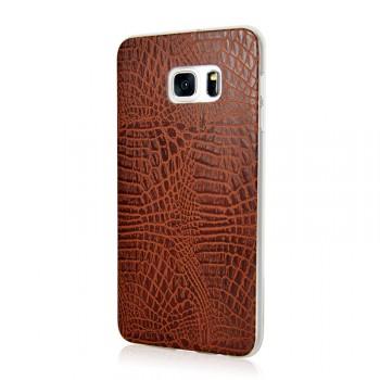Силиконовый дизайнерский чехол текстура Змея для Samsung Galaxy S6 Edge Plus