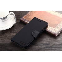 Текстурный чехол портмоне подставка на силиконовой основе с дизайнерской застежкой для Samsung Galaxy S6 Edge Plus Черный