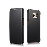 Кожаный вощеный чехол флип для Samsung Galaxy S6 Edge Plus