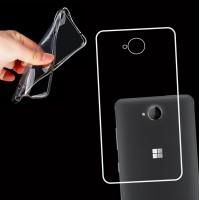 Силиконовый транспарентный чехол для Microsoft Lumia 650