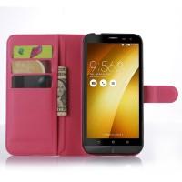 Чехол портмоне подставка с защелкой для Asus Zenfone Zoom Пурпурный