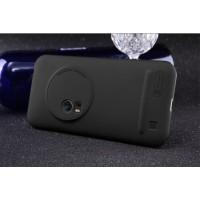 Пластиковый матовый нескользящий премиум чехол для Asus Zenfone Zoom Черный