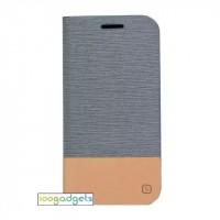 Текстурный чехол флип подставка на силиконовой основе с отделением для карты для Asus Zenfone Zoom Серый